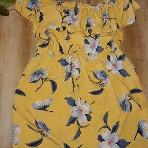 Off shoulder peasant dress